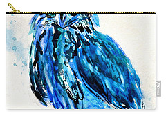 Electric Blue Owl Carry-all Pouch by Beverley Harper Tinsley