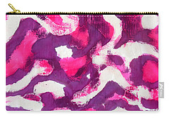 Carry-all Pouch featuring the painting Electric Purple by Joan Reese
