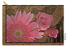 Elegant Gold Lace Carry-all Pouch by Phyllis Denton