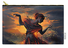 Elements - Fire Carry-all Pouch by Cassiopeia Art