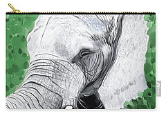 Carry-all Pouch featuring the painting Elephant 1 by Jeanne Fischer