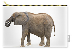 Carry-all Pouch featuring the photograph Elephant by Charles Beeler
