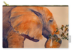 Elephant Eating Carry-all Pouch