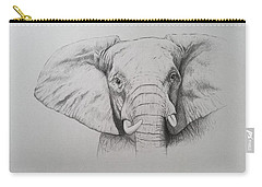 Elephant Carry-all Pouch by Ele Grafton
