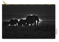 Elephant Family Carry-all Pouch by Aidan Moran