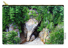 Carry-all Pouch featuring the photograph Elephant Head Rock by Patti Whitten