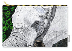 Carry-all Pouch featuring the painting Elephant II by Jeanne Fischer