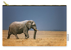Elephant In Grassfield Carry-all Pouch