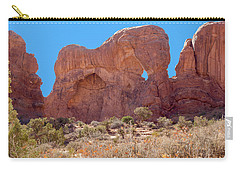 Carry-all Pouch featuring the photograph Elephant In The Rock by John M Bailey