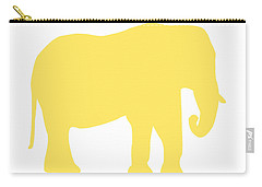 Elephant In Yellow And White Carry-all Pouch
