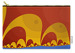 Carry-all Pouch featuring the digital art Elephant Lake by Mark Greenberg