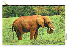 Carry-all Pouch featuring the photograph Elephant by Rodney Lee Williams