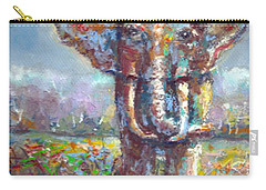 Carry-all Pouch featuring the painting Elephant Thirst by Bernadette Krupa