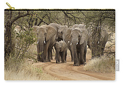 Elephants Have The Right Of Way Carry-all Pouch
