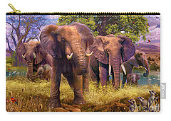 Elephants Carry-all Pouch by Jan Patrik Krasny