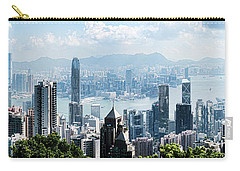 Elevated View Of Skylines, Hong Kong Carry-all Pouch by Panoramic Images