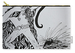 Carry-all Pouch featuring the painting Elf And Porcupine by Beverley Harper Tinsley