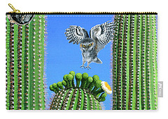Elf Owls Of Saguaro Desert Carry-all Pouch