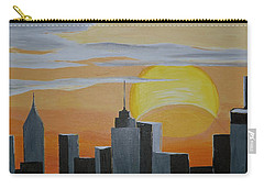 Carry-all Pouch featuring the painting Elipse At Sunrise by Donna Blossom