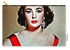 Elizabeth In Red Carry-all Pouch by Florian Rodarte