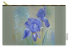 Elizabeth's Irises Carry-all Pouch by Judith Rhue