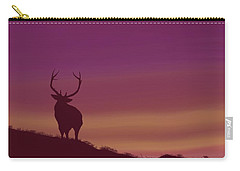 Elk At Dusk Carry-all Pouch by Terry Frederick