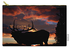 Elk At Sunset Carry-all Pouch