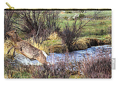 Elk In Motion Carry-all Pouch