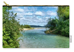 Carry-all Pouch featuring the photograph Elk River- Elk Rapids Michigan by Michelle Calkins