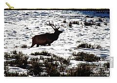 Elk Silhouette Carry-all Pouch by Sharon Elliott