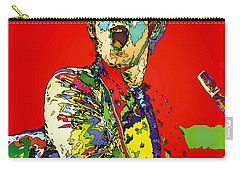 Elton In Red Carry-all Pouch by John Farr