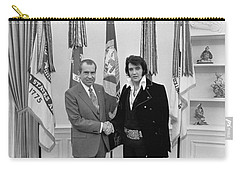 Elvis Presley And Richard Nixon-featured In Men At Work Group Carry-all Pouch