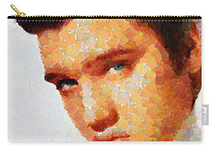 Elvis Presley The King Of Rock Music Carry-all Pouch