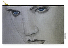 Carry-all Pouch featuring the painting Elvis's Blue Eyes by Kelly Mills