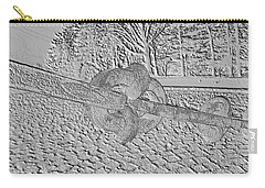 Carry-all Pouch featuring the photograph Embossed Chain by Michael Porchik