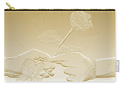 Embossed Gold Rose By Jan Marvin Studios Carry-all Pouch