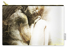 Carry-all Pouch featuring the drawing Embryonic Drawing Textured by Paul Davenport