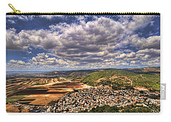 Carry-all Pouch featuring the photograph Emek Israel by Ron Shoshani
