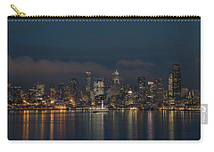 Emerald City At Night Carry-all Pouch by E Faithe Lester