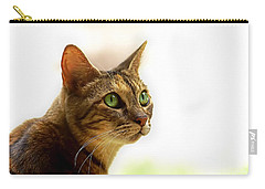 Carry-all Pouch featuring the photograph Emerald Eyes by Olga Hamilton