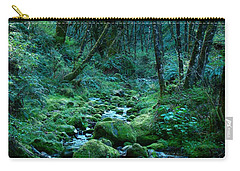 Carry-all Pouch featuring the photograph Emerald Forest by Nick Kloepping