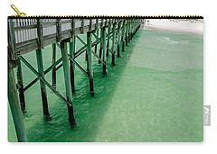 Carry-all Pouch featuring the photograph Emerald Green Tide  by Susan  McMenamin