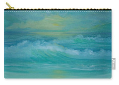 Carry-all Pouch featuring the painting Emerald Waves by Holly Martinson