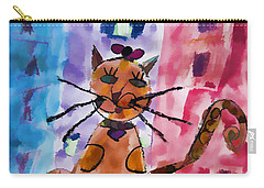 Emma's Spotted Kitty Carry-all Pouch by Alice Gipson
