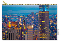 Empire State Blue Night Carry-all Pouch by Inge Johnsson