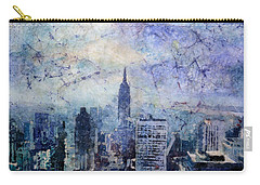 Empire State Building In Blue Carry-all Pouch