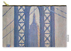 Empire State Building Through The Manhattan Bridge Carry-all Pouch