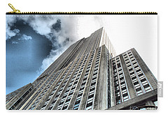 Empire State Building - Vertigo In Reverse Carry-all Pouch