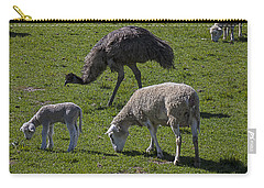 Emu And Sheep Carry-all Pouch