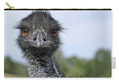 Carry-all Pouch featuring the photograph Emu Gaze by Belinda Greb